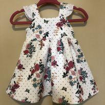 Vestido Baby Floral - 0 a 3 meses - Teddy Boom