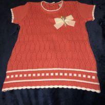 vestido manga curta milly baby - 3 a 6 meses - Milly Baby