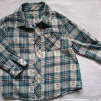 Camisa manga longa xadrez tam. 18m - 18 meses - Cherokee
