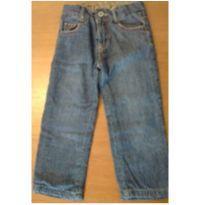 Calça jeans com forro em moletom tam.2-3 anos - 24 a 36 meses - Póim