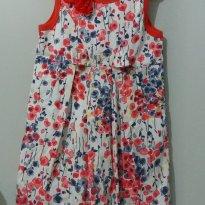 Vestido Florido Balone veste 5-6 anos - 5 anos - Pituchinhus