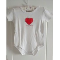 Body branco manga curta - 3 a 6 meses - Mini & Kids