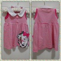 Vestido rosa e branco - 3 a 6 meses - Baby Way