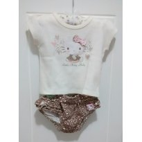 Camiseta e calcinha Hello Kitty - 3 a 6 meses - Hello  Kitty