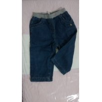 Calça jeans forrada com moleton - 6 a 9 meses - Tex