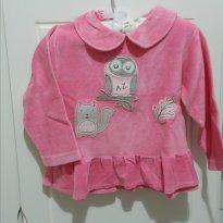Blusa de frio rosa - 9 meses - Ano Zero