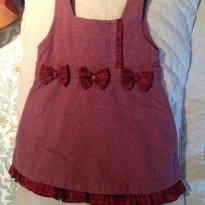 Vestido vinho - 2 anos - PTL girl