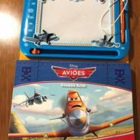 Livro Disney Aviões com lousa mágica -  - Disney