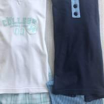Kit de pijamas curto - 6 anos - Não informada