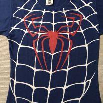 Camiseta Homem Aranha azul - 6 anos - Piticas