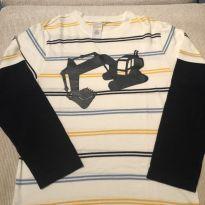 Camiseta manga longa Gymboree - 6 anos - Gymboree