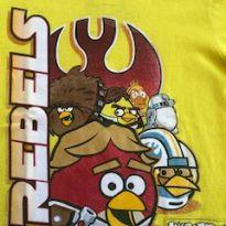 Camiseta Angry Birds Star Wars amarela - 4 anos - Angry Birds