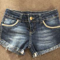 Short jeans com strass - 6 anos - Garota Lua