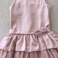 Vestido rosa com babados - 4 anos - Cattai