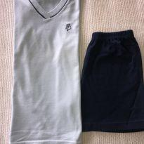 Pijama curto em algodão - 6 anos - Não informada