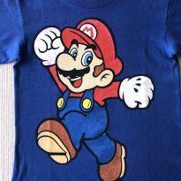 Camiseta Super Mario - 7 anos - Não informada