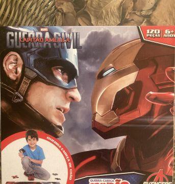 Quebra Cabeça Grandão - Avengers - Sem faixa etaria - Toyster