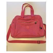 bolsa de mão maternidade rosa carmine pink kipling