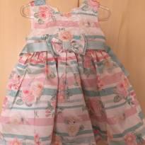 Vestido  De festa florido Petit Cherie - 9 a 12 meses - Petit Cherie