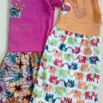 Duo de vestidos - 9 a 12 meses - Duduka e labelli