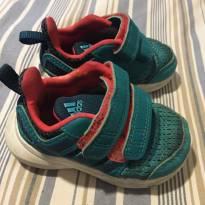 Tênis verde com detalhes em laranja - 16 - Adidas