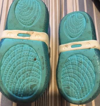 Sapatilha Frozen com glitter azul - 20 - Crocs