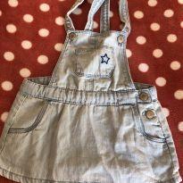 Salopete jeans azul clarinho - 9 a 12 meses - Zara Baby