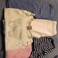 Lote de 2 calças , 2 body's e 1 camiseta - 12 a 18 meses - Baby Gap e Polo wear