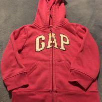 Casaco moletom Gap cor rosa - 12 a 18 meses - Baby Gap