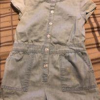 Macaquinho jeans - 24 a 36 meses - Baby Club