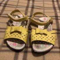 Sandália de couro amarela - 21 - Bibi