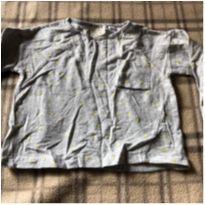 Blusa de moleton fininho cinza com detalhes dourados - 12 a 18 meses - Zara Baby