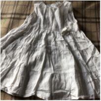 Vestido branco - 9 a 12 meses - H&M