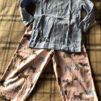 Lindo pijama com estampa de cachorro - 1 ano - Carter`s