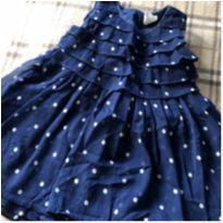 Lindo vestido azul de bolinhas - 6 a 9 meses - H&M