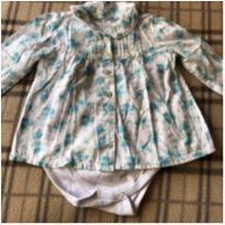 Linda blusinha branca com estampa azul - 1 ano - Milon