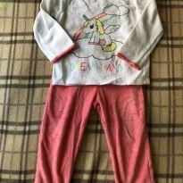 Pijama quentinho de unicórnio - Marca Inextenso - 18 a 24 meses - Importado