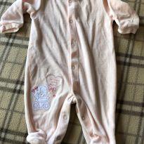 Lindo macaquinho/tiptop rosa - 0 a 3 meses - Baby Classic