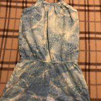 Macaquinho azul com estampa tye dye - 3 anos - Milon
