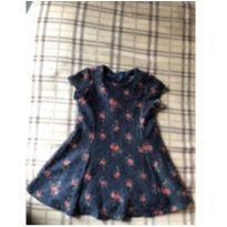 Lindo vestido preto com estampa floral - 18 a 24 meses - Primark