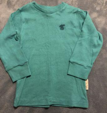 Camiseta verde de manga comprida - 18 meses - Menny Dog