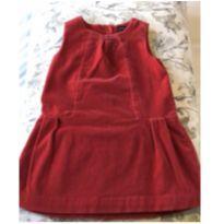 Lindo vestido de veludo vermelho - 2 anos - Baby Gap