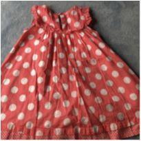 Lindo vestido rosa com bolinhas brancas - 18 a 24 meses - Next