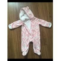 Macacão Carter´s com capuz bebê menina fofinho - 6 meses - Carters - Sem etiqueta