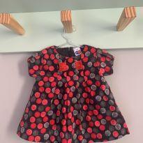 Vestido Arrumadinho Veludo - 6 meses - Tip Top