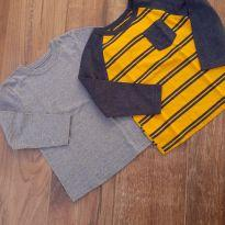 Kit 2 camisetas manga longa - 4 anos - Garanimals