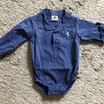 Body estilo camisa - 6 meses - Lazy