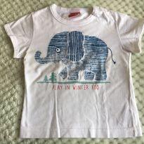 Camiseta Kyly elefantinho G - 9 a 12 meses - Kyly