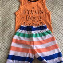Conjunto camiseta cavada e bermuda Baby Club - 9 a 12 meses - Baby Club