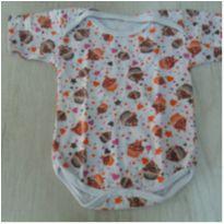 Body de malha manga curta - cupcake - 3 meses - LUIZINHO BABY